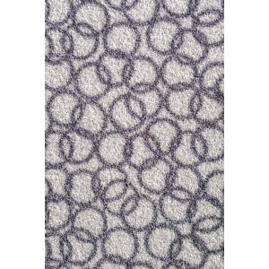 Schmutzfangmatte Fußmatte Ringe silbergrau waschbar