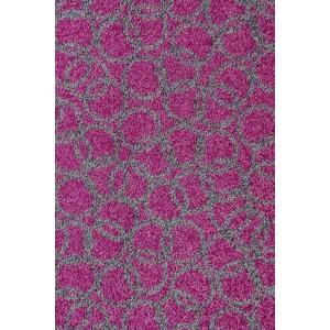 Fußmatte Schmutzfangmatte Ringe violett waschbar