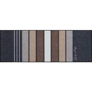 Küchenläufer Block Stripes Grey waschbar