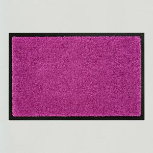 Fußmatte einfarbig violett waschbar Gesamtansicht