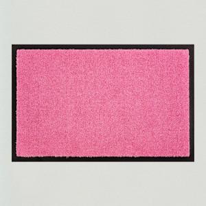 Fußmatte einfarbig rosa waschbar Gesamtansicht