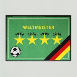 Fußmatte Fußball WM Sterne 1