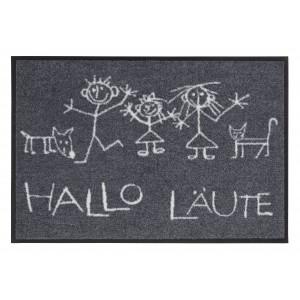 Salonlöwe Fußmatte waschbar Hallo Läute
