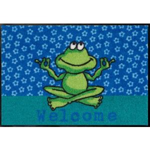 Salonlöwe Fußmatte Welcome Yoga Frosch