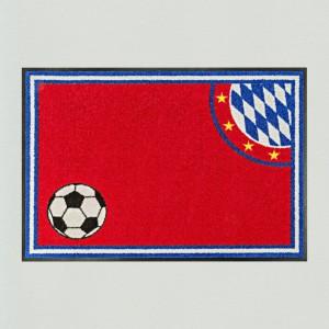 Fußmatte Fußball München rot Premium