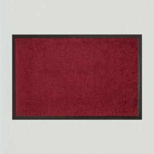 Fußmatte Uni Weinrot