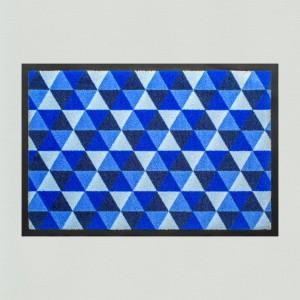 Fußmatte Dreiecke dunkelblau