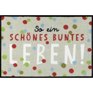 wash+dry Fußmatte Buntes Leben