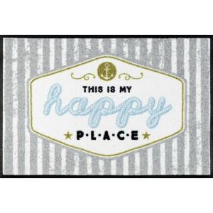 wash+dry Fußmatte Happy Place