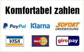 Mattenkiste sicher zahlen PayPal, Kreditkarte, Vorkasse
